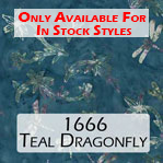 1666 teal dragonfly