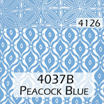 Peacock Blue 4037B Trim 4126