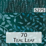 Teal Leaf 70 Trim 5275