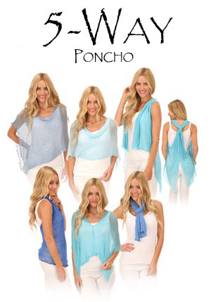 Lost River 5-Way Knit Poncho